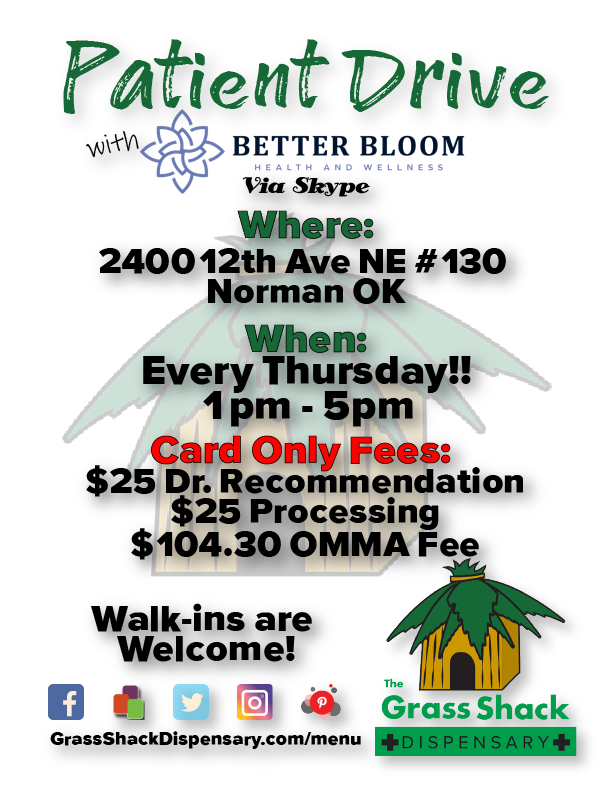 Patient Drive - Dispensary Events - Every Thursday 1pm - 5pm